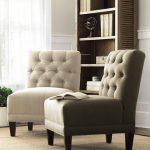 Armless chair for living room open shelves idea for books jute area rug idea for living room