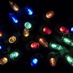 Beautifully colorful christmas tree light fixtures