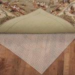 Best rug pad for hardwood floors Polyurethane Rug Pads flower green beige rug