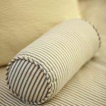 Blue strips bolster pillow