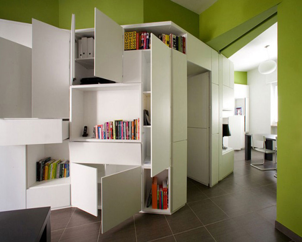 storage solutions for small apartments | homesfeed Living Room Storage System