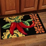 Chili patterned kitchen rug idea