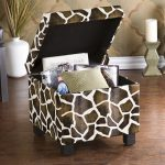 Cool pattern ottoman chair with storage