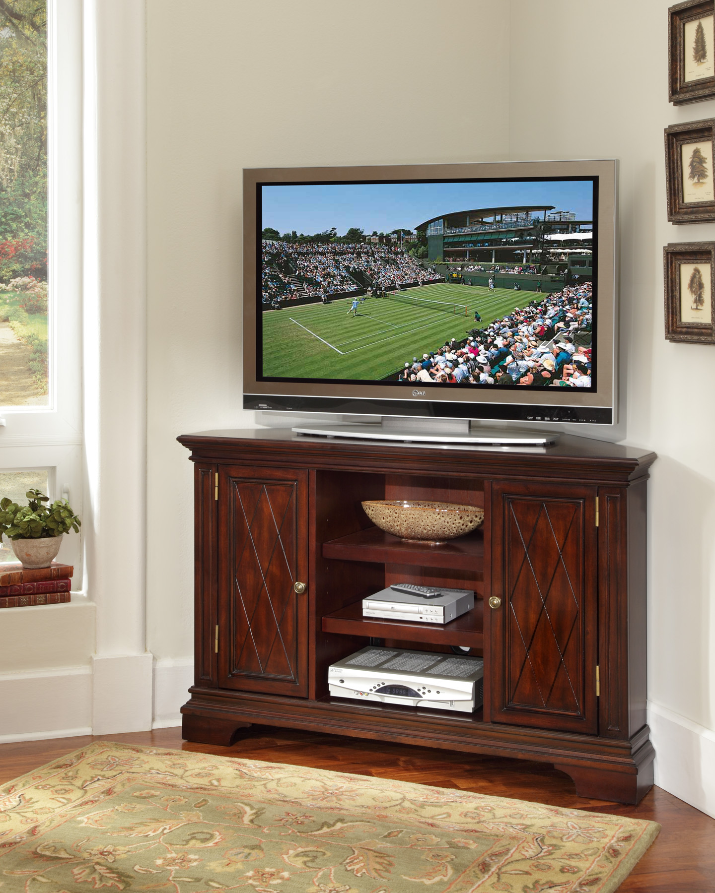 corner unit entertainment centers homesfeed. Black Bedroom Furniture Sets. Home Design Ideas