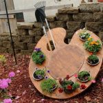 Creative and cool mini garden idea with water paint board as the media