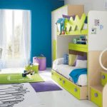 Double loft beds with storage and stairs plus storage underneath large closet storage wooden open shelves medium size green bedroom rug small purple bedroom rug wood desk with chair