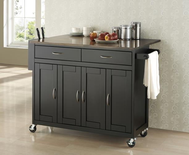 Kitchen Cart with Wheels | HomesFeed