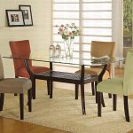 Casual Kitchen Dinette Sets Design Glass Top Dining Table