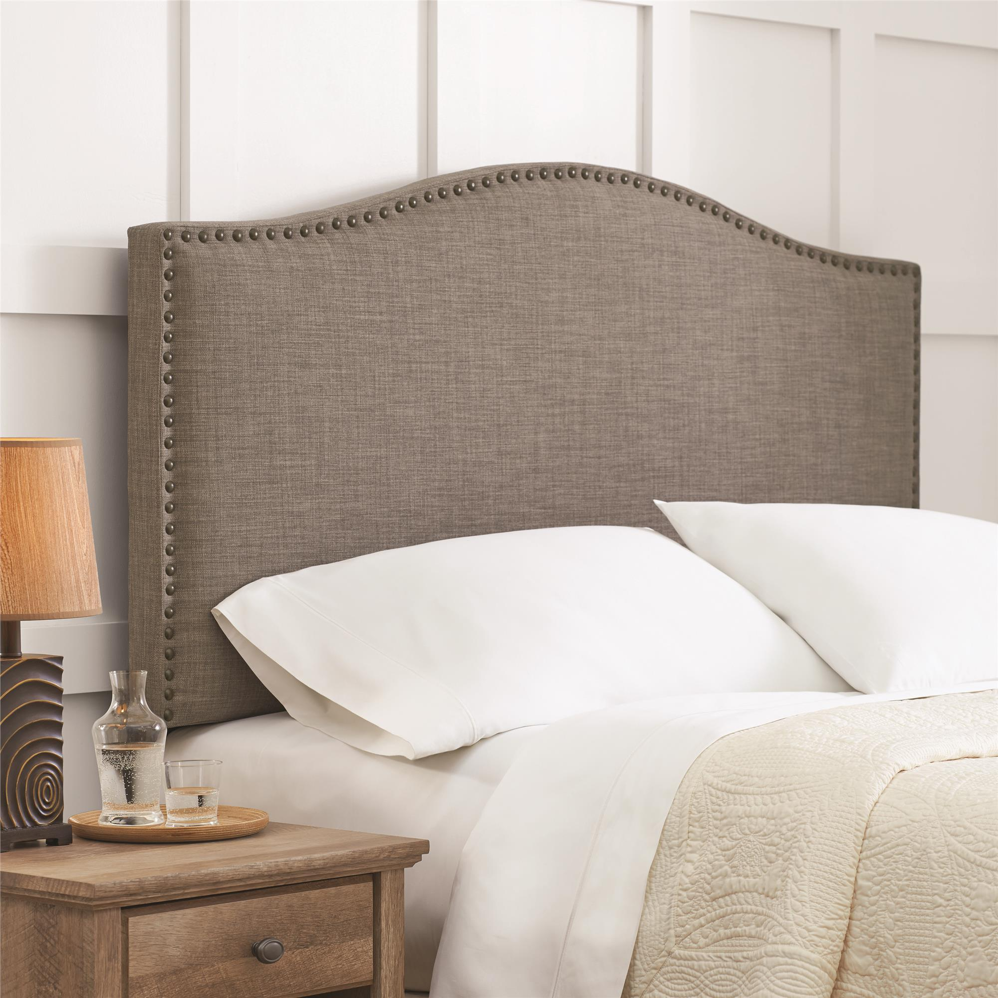 best fabric for headboards grey fabric headboard in wide
