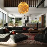 Interior Design for Dummies focal point in interior design cool black modular sofa unique lotus hanging lamp