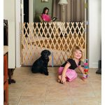 Lattice safety gate for kids room