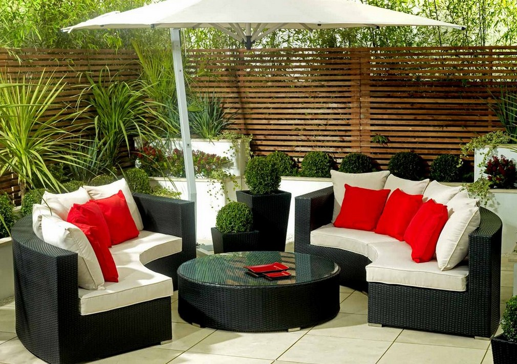 Better homes and gardens patio cushions homesfeed - Small space garden design ideas set ...