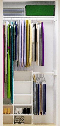 Maximizing Small Closet Storage