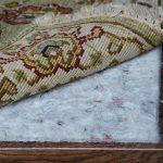 Safe Felt Rug Pad For Hardwood Floor Brown Wooden Floor Abstract Motive Rug