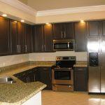 Seafoam Green granite countertop for kitchen simple clean kitchen brown wooden kitchen furniture tile floor