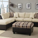Sectional sofa with an ottoman furniture