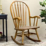 Simple elegant rocking chair made of wood for indoor