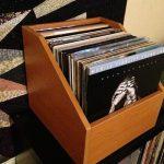 Simple wood box as record storage box