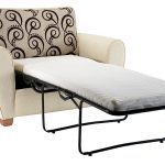 Single sofa bed idea with black metal legs feature