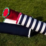 Some samples of bolster pillows for outdoor