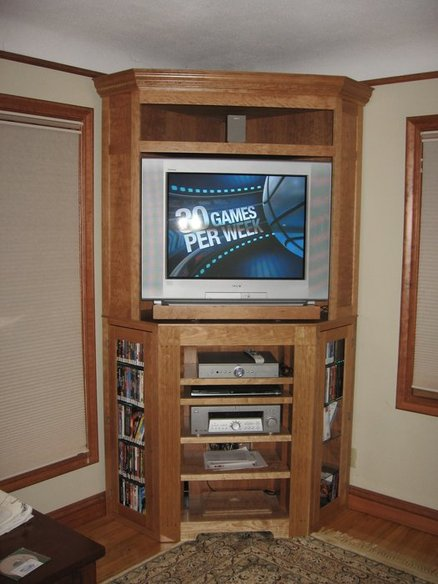 Tv Cabinet With Shelves As Corner Entertainment Center Idea