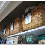 Three storage boxes made of tiny bamboo boards for storing cooking supplies containers