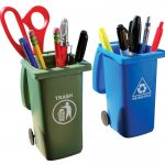 Trash bin miniatures as unique pen storage ideas