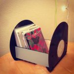 Unique and cool record storage idea made of black plates
