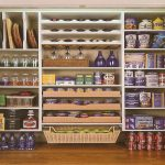 Well organized pantry idea for storing kitchen supplies