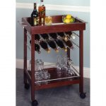 Wine cart with wheels