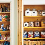 Wooden closet solution for storing foods and kitchen supplies