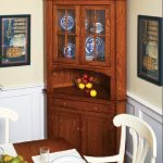 Wooden hutch cabinet as the corner decorative furniture