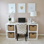 adorabl working picture frame target design on crem wall above desk with storage bin and white table lamp and chevron patterned chair