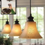 adorable golden shaded pendant light designs with black screw and suspension and bulb and round base