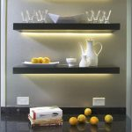 adorable kitchen floating shelves lowes design with glass and cattle with lighting