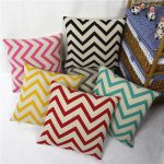 adorable shevron pattern ikea floor pillow design in red blue yellow black and pink color aside storage bin