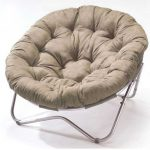 Adorable White Modern Papasan Chair Ikea With Metal Stars Shaped Leg With Tuft Pattern
