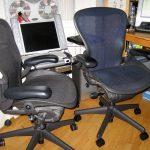 Aeron Chairs Monitor Cabinet