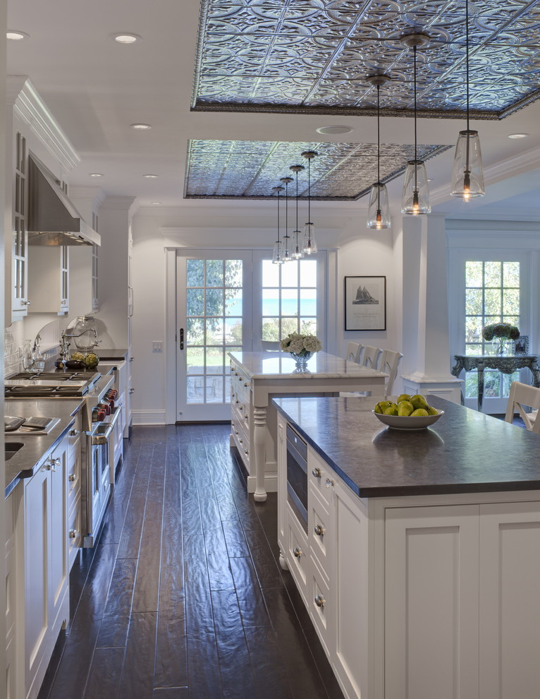 Amazing Kitchen Decoration With Engineered Hardwood Flooring Pros And Cons Combined White Wooden Cabinets