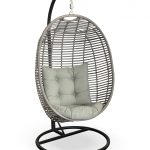 beautiful affordable modern outdoor furniture unique modern hanging cahir with white puff