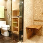 beautiful clean cork flooring in bathroom beige modern bathroom