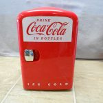 beautiful red Koolatron KWC-4 Coca-Cola Personal 6-Can Mini Fridge cool built-in mini fridge for cans