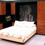 bed murphy cabinet flower pillow rug