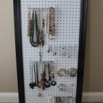 black framed pegboard jewelry display natural color stone jewelries