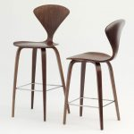 bold brown wooden cherner counter stools metal legs support cherner counter stool