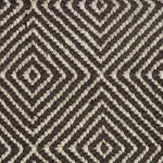 brown and white soft sisal rug with diamond pattern for home accessories ideas