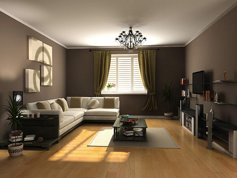Brown Interior Paint Colors For 2017 Living Room With Sectional Couch Or Sofa Plus Rectangular