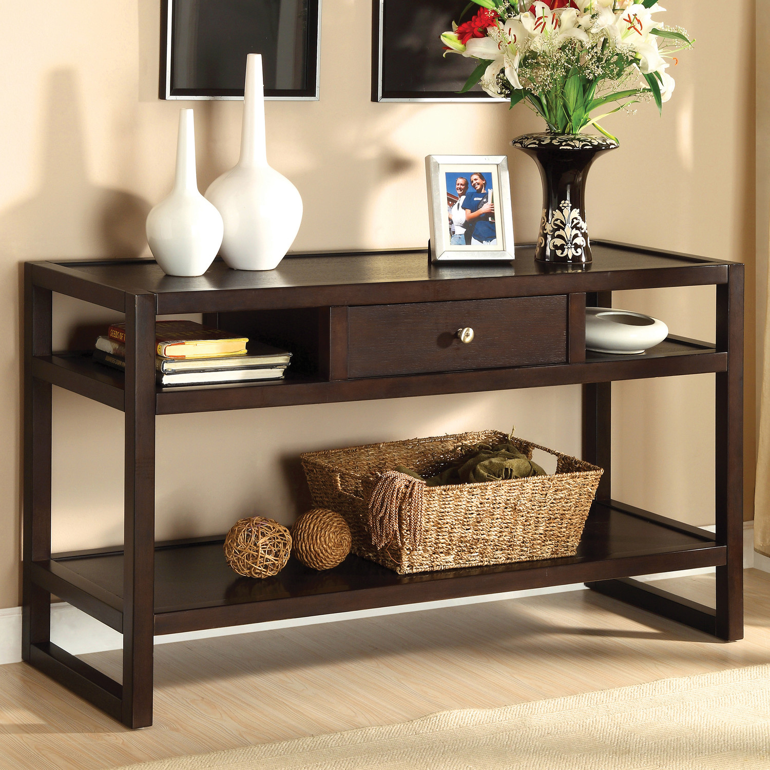 Between Wood And Glass Long Console Tables