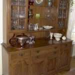 cabinet wood hutch