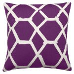 candinavian purple accent pillow idea with geometrical pattern in white tone